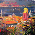 St Tropez Sailing by Peter Graham