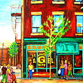 St. Viateur Bagel With Shoppers by Carole Spandau