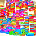 Stacks Of Clothes Ready To Sell by Ashish Agarwal
