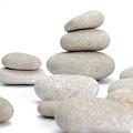Stacks Of Smooth Pebble Stones by Sami Sarkis