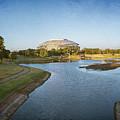 Stadium And Park Panorama Bleach Bypass by Joan Carroll
