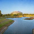 Stadium And Park Panorama by Joan Carroll