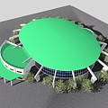 Stadium Model by Ron Bissett