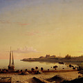 Stage Fort Across Gloucester Harbor By Fitz Henry Lane 1862 by Fitz Henry Lane