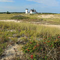 Stage Harbor Lighthouse Cape Cod by John Burk