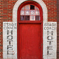 Stagecoach Hotel - Rustic Antique Red Door Home Country Southwest by Jon Holiday