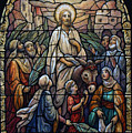 Stained Glass - Palm Sunday by Munir Alawi