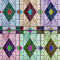 Stained Glass Abstract by John Haldane
