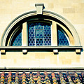 Stained Glass And Rusty Roof by Christi Kraft