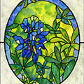 Stained Glass Bluebonnet by Hailey E Herrera