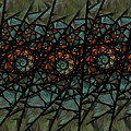Stained Glass Floral I by Amorina Ashton