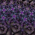 Stained Glass Floral II by Amorina Ashton