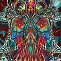 Stained Glass Owl  by Aixa Olivo