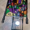 Stained Glass Sofa Table by Steve Semiatin