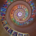 Stained Glass Spiral by Stephen Stookey