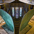 Stained Glass-window Reflection by Heiko Koehrer-Wagner