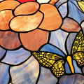 Stained Glass With Butterfly by Chris Flees