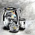 Stainless Steel Still Life Painting by Usha Shantharam