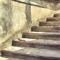 Staircase At Pitti Palace Florence Pencil by Edward Fielding