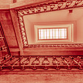 Staircase In Red by Wolfgang Stocker