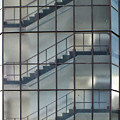 Stairs Behind Glass by Philip Openshaw