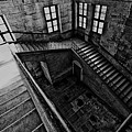Stairs Black And White by Charuhas Deshpande
