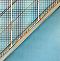 Stairs On Blue Wall by Stephen Mitchell