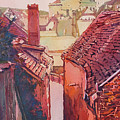 Stairs To Cesky Krumlov by Jenny Armitage