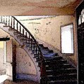 Stairway -  Meade Hotel - Bannack Mt by Nelson Strong