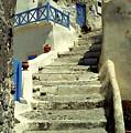 Stairway In Santorini by Madeline Ellis