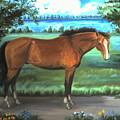Stallion Portrait by Dawn Senior-Trask