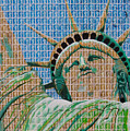 Stampue Of Liberty by Gary Hogben