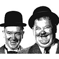 Stan And Ollie - Parallel Hatching by Samuel Majcen