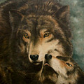 Stand By Me - Wolves by Elaine Booth-Kallweit