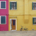 Standing By For A Quick Get Away In Burano Italy by Richard Rosenshein