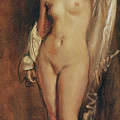 Standing Female Nude by Theodore Chasseriau