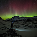 Standing In Awe Of The Auroras by Craig Brown