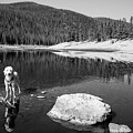 Standing In Comanche Reservoir by Cary Leppert