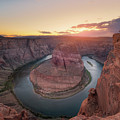 Standing On The Edge Of Horseshoe Bend by Michael Ver Sprill