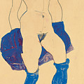 Standing Woman With Shoes And Stockings by Egon Schiele