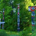 Stanley Park Totem Poles by Ola Allen