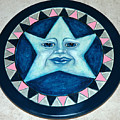 Star Face Lazy Susan by Mickie Boothroyd