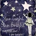 Star Light Star Bright Chalk Board Nursery Rhyme by Mindy Sommers