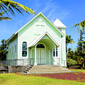 Star Of The Sea Painted Church by Jim Thompson