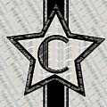 Star Of The Show Art Deco Monogram C by Cecely Bloom