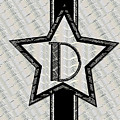 Star Of The Show Art Deco Monogram D by Cecely Bloom