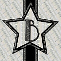 Star Of The Show Art Deco Style Letter B by Cecely Bloom