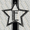 Star Of The Show Art Deco Style Letter E by Cecely Bloom