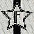 Star Of The Show Art Deco Style Letter F by Cecely Bloom