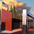 Star Spangled Banner Over The Medal Of Honor Memorial by Glenn McCarthy Art and Photography